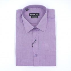 Le Bond Formal Dark Purple Long Sleeve Printed Shirt