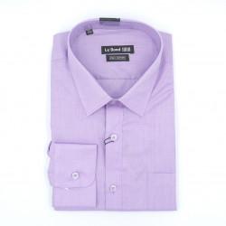 Le Bond Formal Light Purple Long Sleeve Printed Shirt