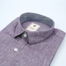 Signature Orange Club Casual Purple Long Sleeve Shirt