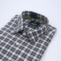 Signature Sports Casual Black Checked Long Sleeve Shirt