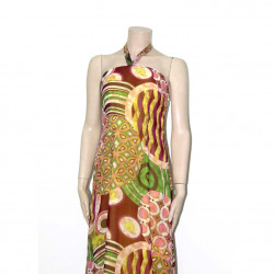 Avirate Yellow Printed Off Shoulder Party Wear Long Dress
