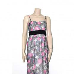 Avirate Multi Color Printed Sleeveles Long Dress