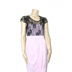 Avirate Lilac Mesh Party Wear Short Dress