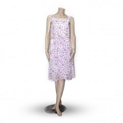 Avirate White Floral Print Short Dress