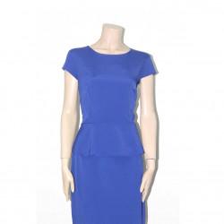 Avirate Blue Plain Midi Dress