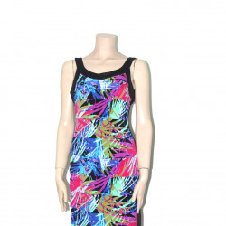 Avirate Multi Color Printed Sleeveless Short Dress