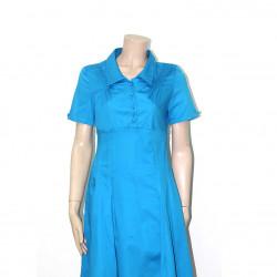 Avirate Blue Plain Short Dress