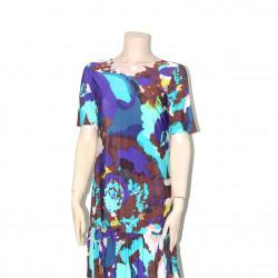 Avirate Multi Color Printed Frill Short Dress