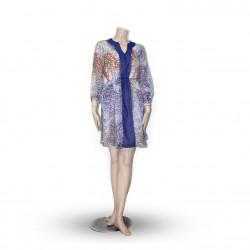 Avirate Blue Multi-color Dream Tunic